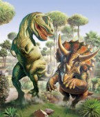 Tyrannosaur and Triceratops