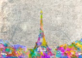 EiffelTower_Map_ColorsplashWatercolor