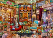 A fantasy antique shop full of colorful and eclectic treasures from around the world.