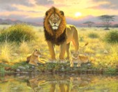 Lion and twins landscape
