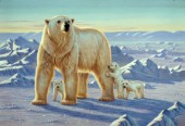 Polar bear with cubs (NPI 0073)