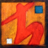 Abstract red figure (NPI 2145)