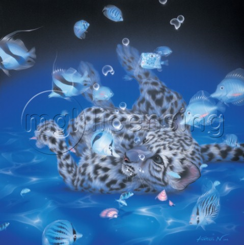 Mother Ocean  leopard