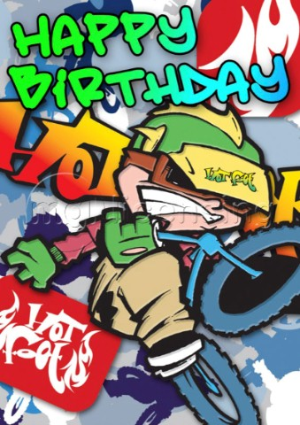 BMX ramp birthday card