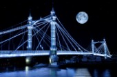 The Albert Bridge & The Moon