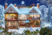 Snowy Christmas House