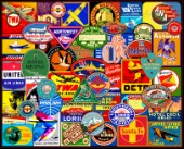 Vintage Luggage Stickers