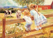Kids on A Fence