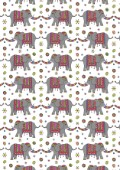 Repeat Print - Indian Elephant