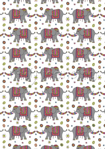 Repeat Print  Indian Elephant