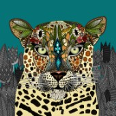 Illustrated leopard