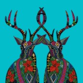 Illustrated Christmas deer