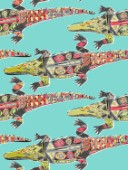 repeating pattern ~ illustrated crocodiles