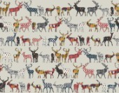 repeating pattern ~ ikat pattern filled deer