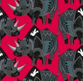 repeating pattern ~ tribal black rhino pattern