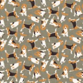 repeating pattern ~ scattered beagle on stone