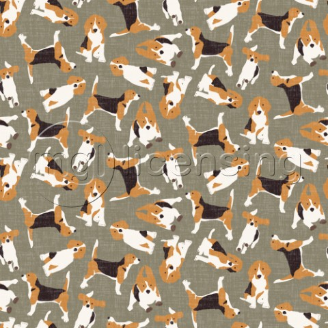 repeating pattern  scattered beagle on stone