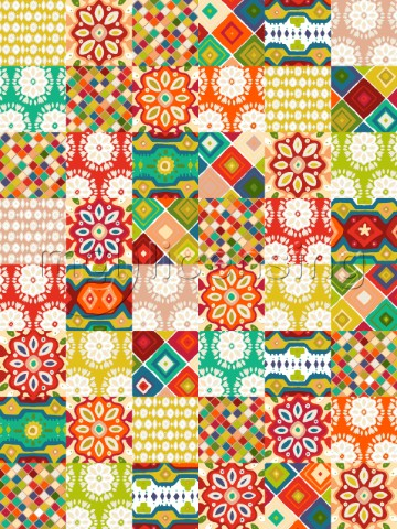repeating pattern  patchwork squares of designs from my Southwestern inspired ABRAZO collection