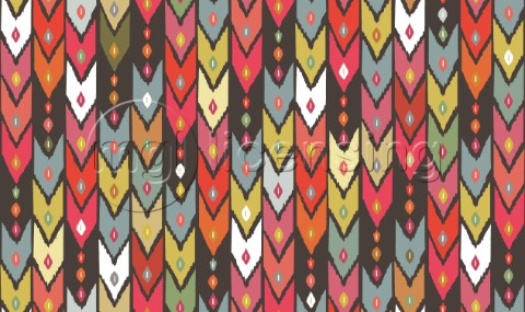 repeating pattern  ikat arrows
