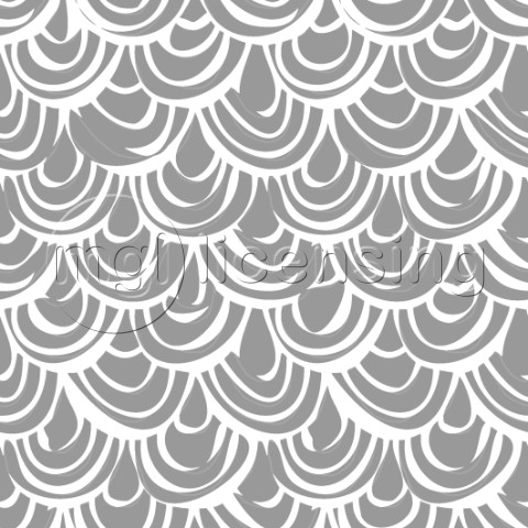 repeating pattern  illustrated scallop scales in grey