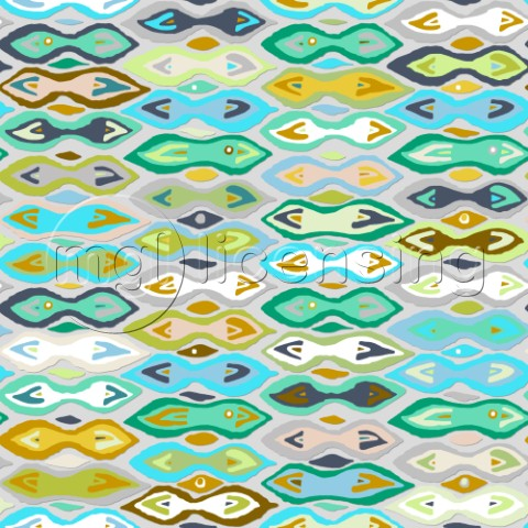 repeating pattern  ocean inspired ikat Indian summer