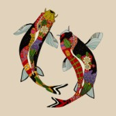illustrated koi (also available as a repeating pattern)