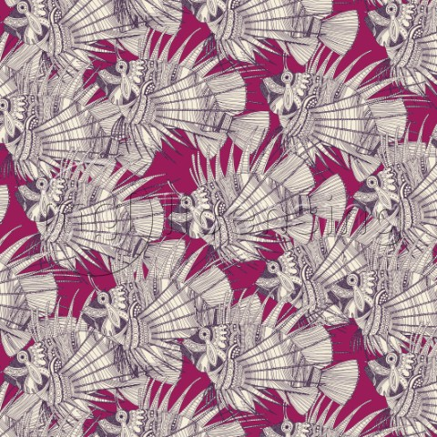 tropical fish  also available as a repeating pattern