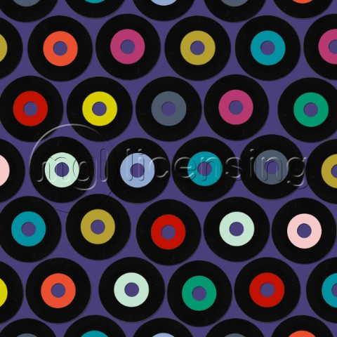 retro vinyl polka  also availlable as a repeating pattern