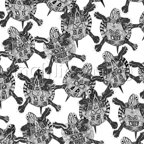 turtle party black white MGL
