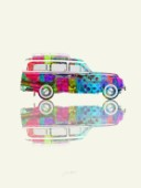 Colourful Vintage Station Wagon (Variant 2)