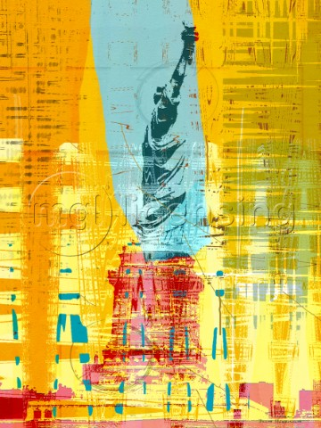New Paint  New York Liberty Statue II