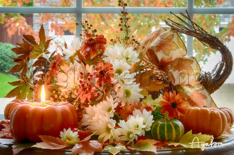 Fall Flower Arrangementjpg