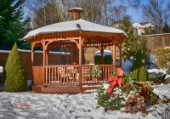 5725-Gazebo and Christmas Presents on Snow