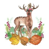 DEER IN THE TREES WITH LEAFY WREATH PLACEMENT.jpg