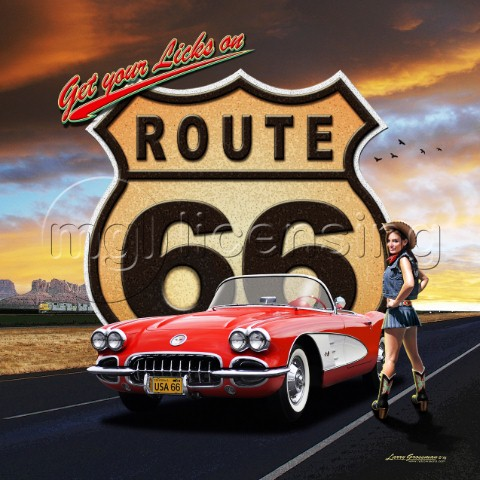 Route 66 girl Variant 1