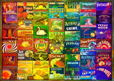 Vintage Food Labels