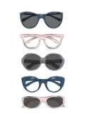 Fashionable glasses collection illustration