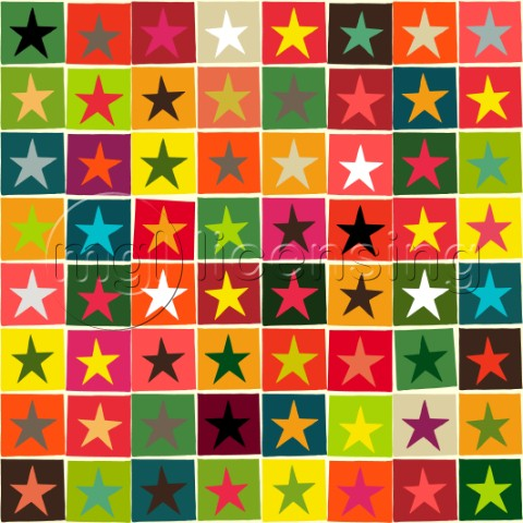 geo stars in festive colours