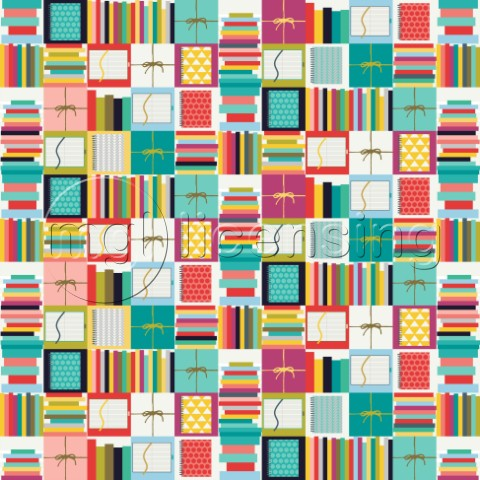 books and journals  also available as a repeating pattern